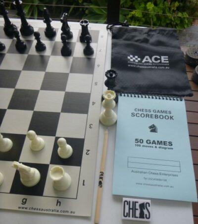 chess set close up