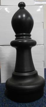 Large Giant Chess Bishop Black
