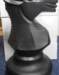 Large Giant Chess Knight Black