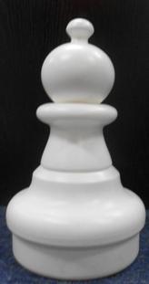 Large Giant Chess Pawn White