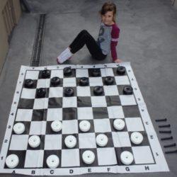 Small Draughts/Checkers Set + PVC board.