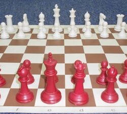 Chess pieces Red 1250g