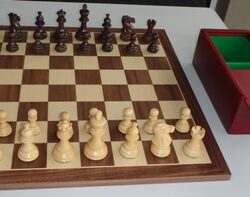 Wooden Pieces. Rosewood. 82mm size king with Cherr