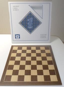 Wooden walnut chess board